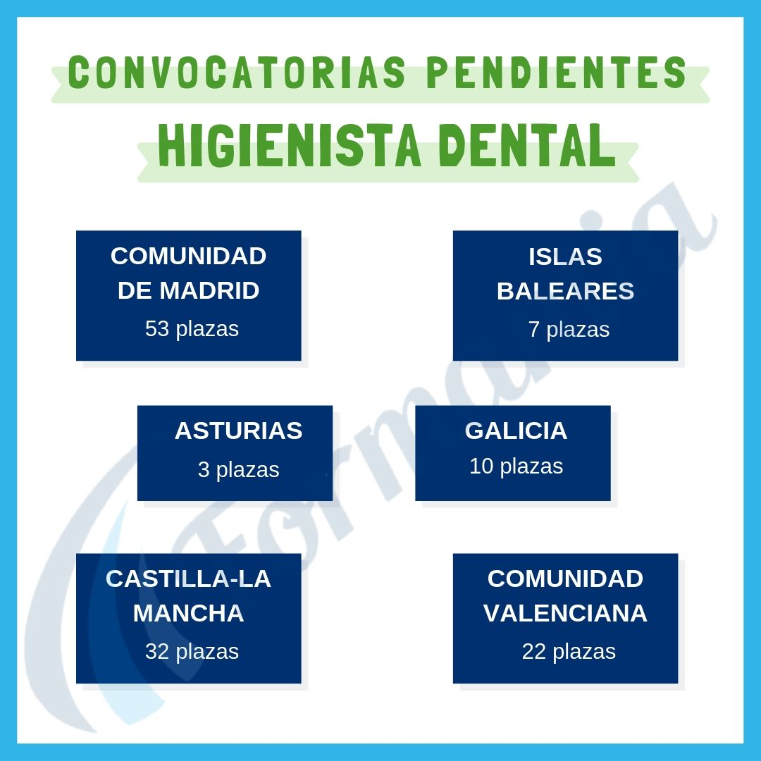 Convocatorias pendientes Higienista Dental Blog Formantia