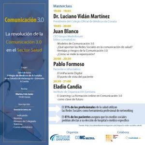 Programa Master Class Comunicacion 3.0 en salud