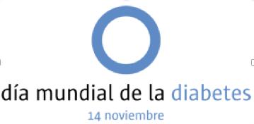 Logo conmemorativo del Día Mundial de la Diabetes