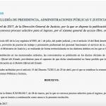 Convocatoria de oposiciones proceso selectivo para el ingreso por el sistema general de acceso libre en el cuerpo nacional de médicos forenses