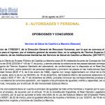 Convocatoria oposiciones Sescam Tecnico de Laboratorio