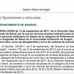 Convocatoria oposiciones enfermeria Aragon