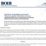 Convocatoria oposiciones tecnico anatomía patológica Baleares