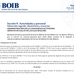 Convocatoria oposiciones enfermeria Baleares