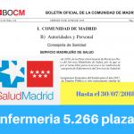 Convocatoria oposiciones enfermeria Sermas Madrid