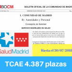 Convocatoria oposiciones TCAE Sermas Madrid