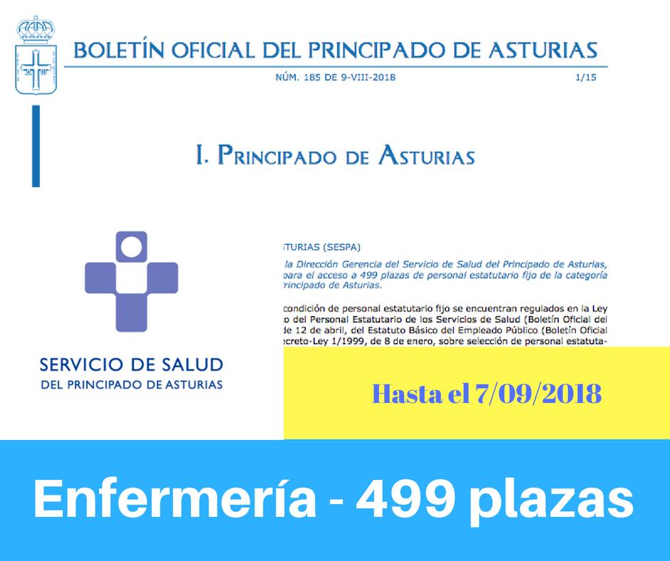 Convocatoria oposiciones Enfermeria Asturias