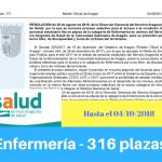 Convocatoria del Servicio Aragonés de Salud para las Oposiciones de Enfermería