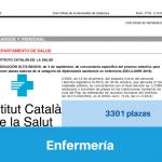 Convocatoria del Instituto Catalán de Salud de Oposiciones de Enfermería