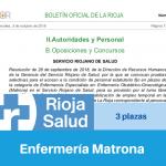 Convocatoria del Servicio Riojano de Salud de Matrona