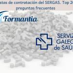 Listas de contratación del SERGAS. Top 20 preguntas frecuentes