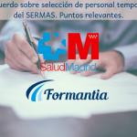 Acuerdo sobre selección de personal temporal del SERMAS. Puntos relevantes.