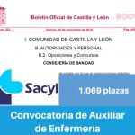 Convocatoria del Servicio de Salud de Castilla y León para las Oposiciones de Técnico en Cuidados Auxiliares de Enfermería