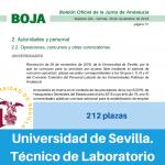 Convocatoria de la Universidad de Sevilla para provisión de plazas vacantes de los grupos I, II, III, IV