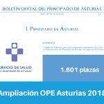 Resumen de la Ampliación de la OPE de Asturias para 2018