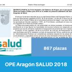 Resumen OPE de Aragón Salud para 2018