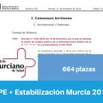 Resumen OPE y Estabilización de la Región de Murcia para 2018