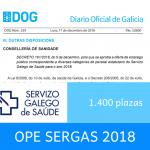 OPE del Servicio Gallego de Salud (SERGAS) de 2018