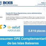 Resumen OPE Complementaria de las Islas Baleares