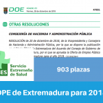 Resumen OPE de Extremadura para 2018