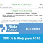 Resumen OPE de la Rioja para 2018