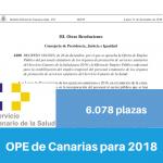 Resumen OPE de Canarias para 2018