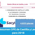 Resumen OPE de Castilla y León para 2018