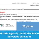 Resumen OPE de la Agencia de Salud Pública de Barcelona para 2018