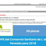 Resumen OPE del Consorcio Sanitario de Lalt Penedès