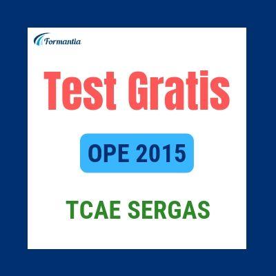 Test gratis TCAE Sergas Convocatoria Mayo 2016