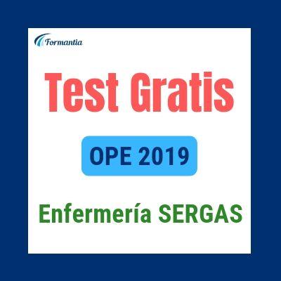 Test gratis Enfermería SERGAS Convocatoria Oposiciones 2019