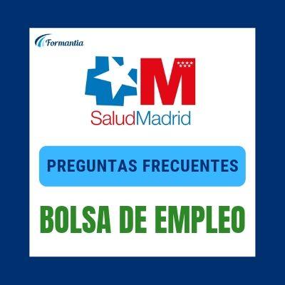 Bolsa de empleo Preguntas Frecuentes SERMAS Madrid