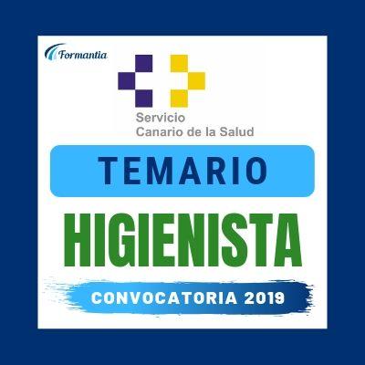 Temario Examen Convocatoria Higienista Canarias 2019