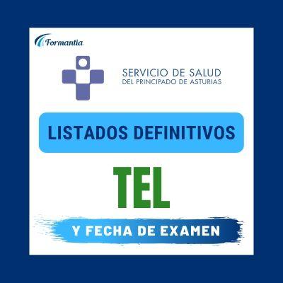 Listados definitivos Examen TEL Asturias