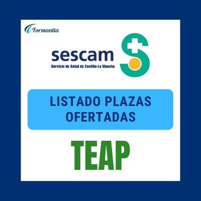 Listado plazas ofertadas TEAP SESCAM OPE 2009