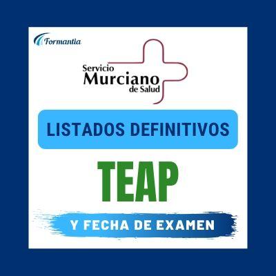 Listados definitivos examen TEAP Murcia SMS